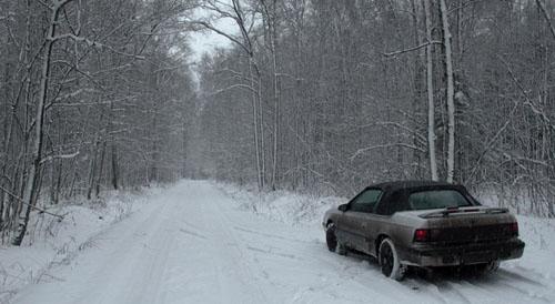 По дороге к Переславлю. С годом свиньи! Да, в этот день был снег.